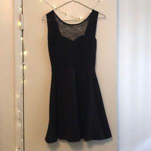 Low V-back dress
